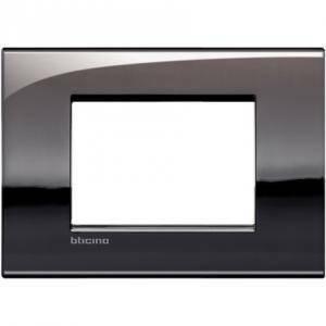 bticino livinglight air placca 3 moduli colore  peltro lucido lnc4803pt
