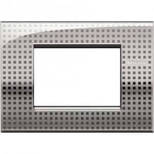 bticino livinglight air placca 3 moduli colore  net lnc4803ne