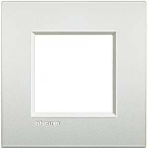 bticino livinglight air placca 2 moduli colore bianco perla lnc4802pr