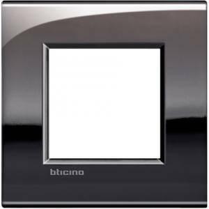 bticino livinglight air placca 2 moduli colore peltro lucido lnc4802pt