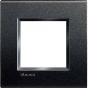 bticino livinglight  placca 2 moduli colore  antracite lna4802ar