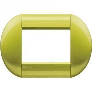 bticino livinglight placca 3 moduli colore  citron lnb4803ct