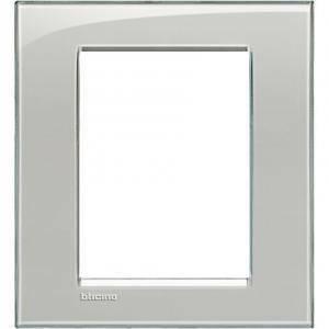 bticino livinglight placca 3+3 moduli colore grigio ghiaccio lna4826kg