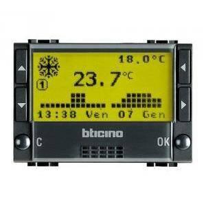 bticino livinginternational cronotermostato da incasso a batteria l4451