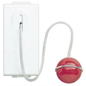 bticino livinglight pulsante 1 polo 10a con tirante bianco n4033