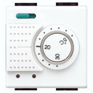 bticino termostato ambiente elettronico a due moduli con commutatore n4442