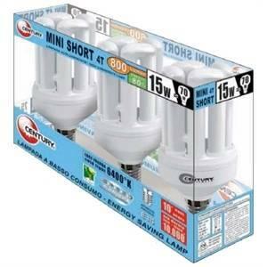 century box 3 lampadina spirale attacco piccolo e14 15>70w luce fredda 6400k 220-240v bb4s-151464