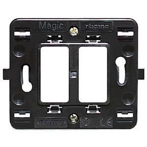 bticino bticino magic supporto 2 moduli scatola tonda 500s/2
