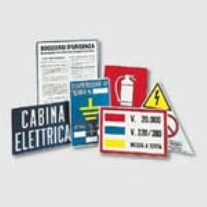 italweber kit 7 cartelli in alluminio per cabina 1911456