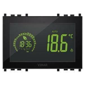 vimar cronotermostato touch 3m 120-230v colore nero 02955