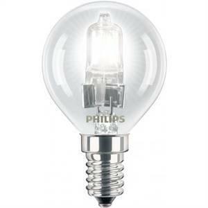 philips lampadina alogena sfera 42w attacco e14 luce calda ecsfe42cle14