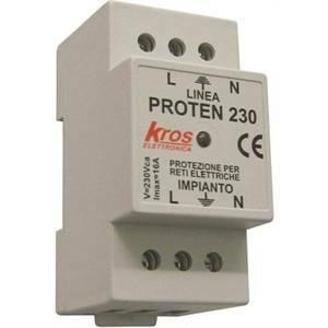 kros protezione per reti elettriche 230v 2 moduli 02002