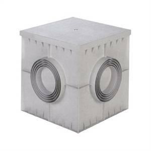 elettroservice pozzetto in polipropilene 40x40 cm con coperchio pc4040