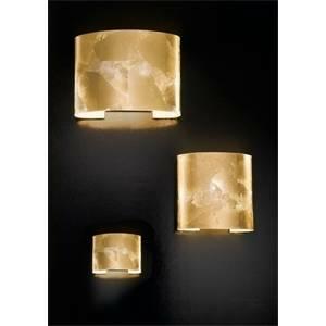 antea luce applique robbelat foglia oro 70w attacco e27 5904.2.fo
