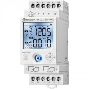 finder temporizzatore digitale 110/240v con tecnologia nfc 840202300000