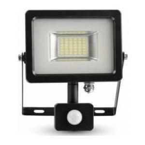 v-tac proiettore led con sensore di movimento intefnato 50w luce fredda 5717
