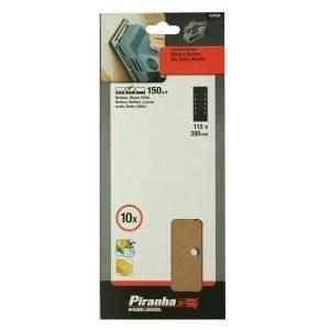 black & decker 10 fogli abrasivi forati 115x280mm grana 150 x31050-xj