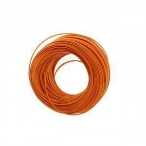 cavi 100 metri di cordina unipolare sezione da 0.5mm colore arancione h05v0,5ar/b100