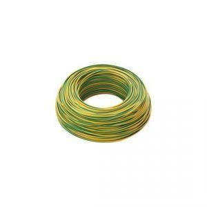 cavi 100 metri di cordina unipolare sezione da 0.5mm colore giallo verde h05v0,5gv/b100