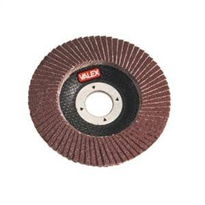 valex disco abrasivo all'ossido di alluminio per metalli lamellare grana 120 1464648