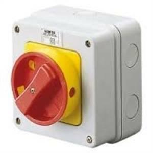 gewiss interruttore rotativo da parete per emergenza 32a ip65 gw70436