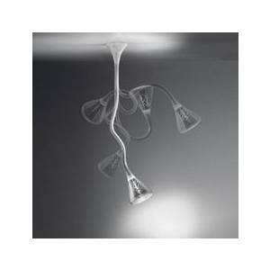 artemide artemide sospensione pipe bianco / trasparente .32w 0633010a