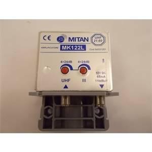 mitan amplificatore da palo 1 ingresso iii+uhf 24db regolabile m54331201
