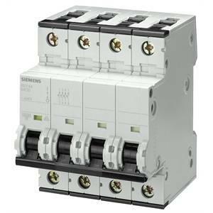 siemens interruttore magnetotermico 4p 50a 10ka 5sy4450-7