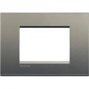 bticino livinglight placca 3 moduli colore  avenue lna4803ae