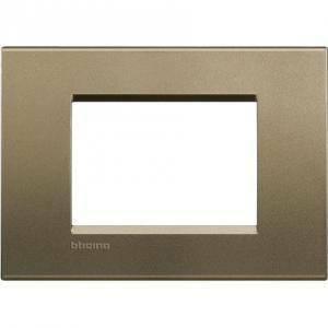bticino livinglight placca 3 moduli colore square lna4803sq