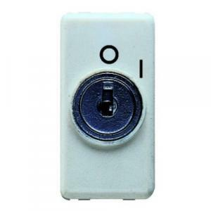 gewiss system interruttore 250v ac 2p 10a con chiave gw20005