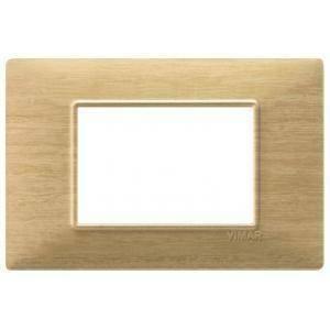 vimar vimar plana placca 3 moduli tecnopolimero colore frassino 14653.31