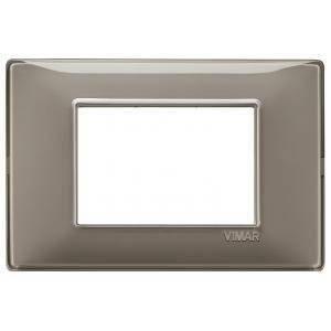 vimar vimar plana placca 3 moduli tecnopolimero colore  reflex cenere 14653.40
