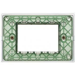 vimar vimar plana placca 3 moduli tecnopolimero colore reflex aria 14653.42