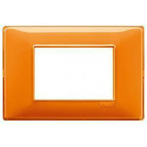 vimar plana placca 3 moduli tecnopolimero colore reflex arancio 14653.48