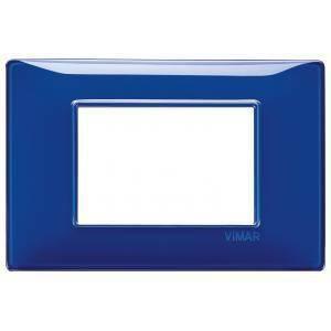 vimar plana placca 3 moduli tecnopolimero colore  reflex zaffiro 14653.50