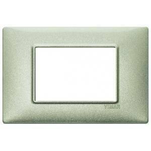 vimar vimar plana placca 3 moduli metallo colore  verde metallizzato 14653.72