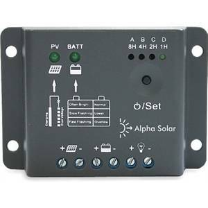 alpha elettronica regolatore di carica 5a - 12v - pwm con singolo timer rhn05/12