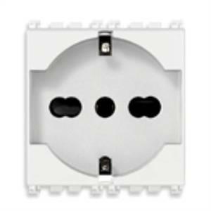 vimar arke' - presa 2p+t 16a universale colore bianco 19210.b