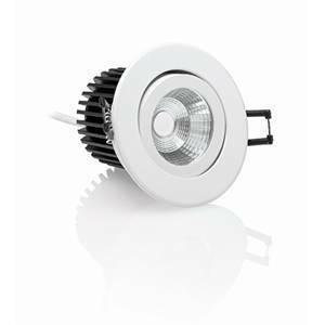 nobile illuminazione faretto incasso led orientabile 11,5w luce calda e50/3k