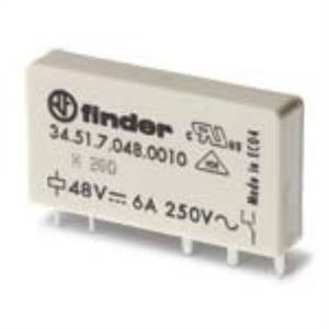 finder mini rele' elettromeccanico 1 contatto 6a 12vdc 345170120010