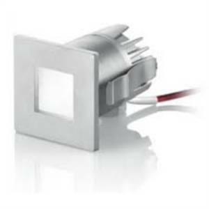 nobile illuminazione incasso led quadrato colore grigio 1x3w luce calda 208/3k/gr