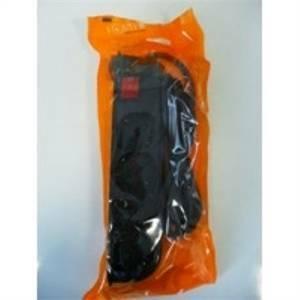 fanton multipresa 4p bipasso/schuko con interruttore colore nero 40421-fk