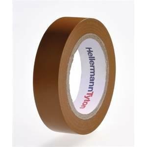 hellermann tyton helatape flex 15 - nastro isolante in pvc multiuso colore marrone 710-00107