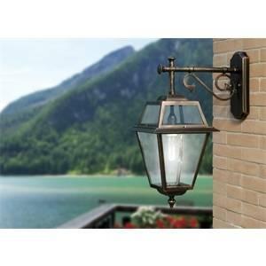 liberty lamp lanterna calipso colore nero/ruggine 75w attacco e27 4652-b18/nr