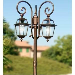 liberty lamp palo artemide 2 luci colore nero oro 75w attacco e27 4617/2l-b15-p06/no
