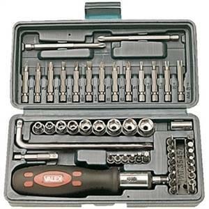 valex valigetta con cacciavite e portainserti 52 pz 1463569