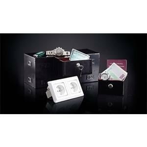 elettroservice cassaforte con cassetto+ripiano sicurezza  camaleonte/1c+1r