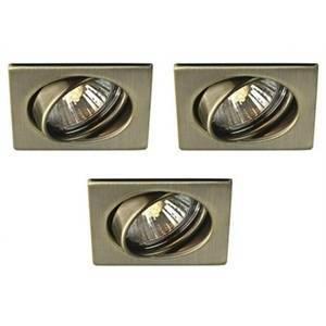 Massive kit 3 faretti incasso quadrati orientabili bronzo quartz 593230610