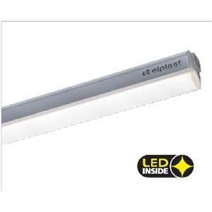 beghelli reglette led 18w 1473mm luce bianco calda 74049